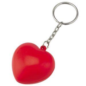 Gadget aziendali portachiavi cuore antistress personalizzabili